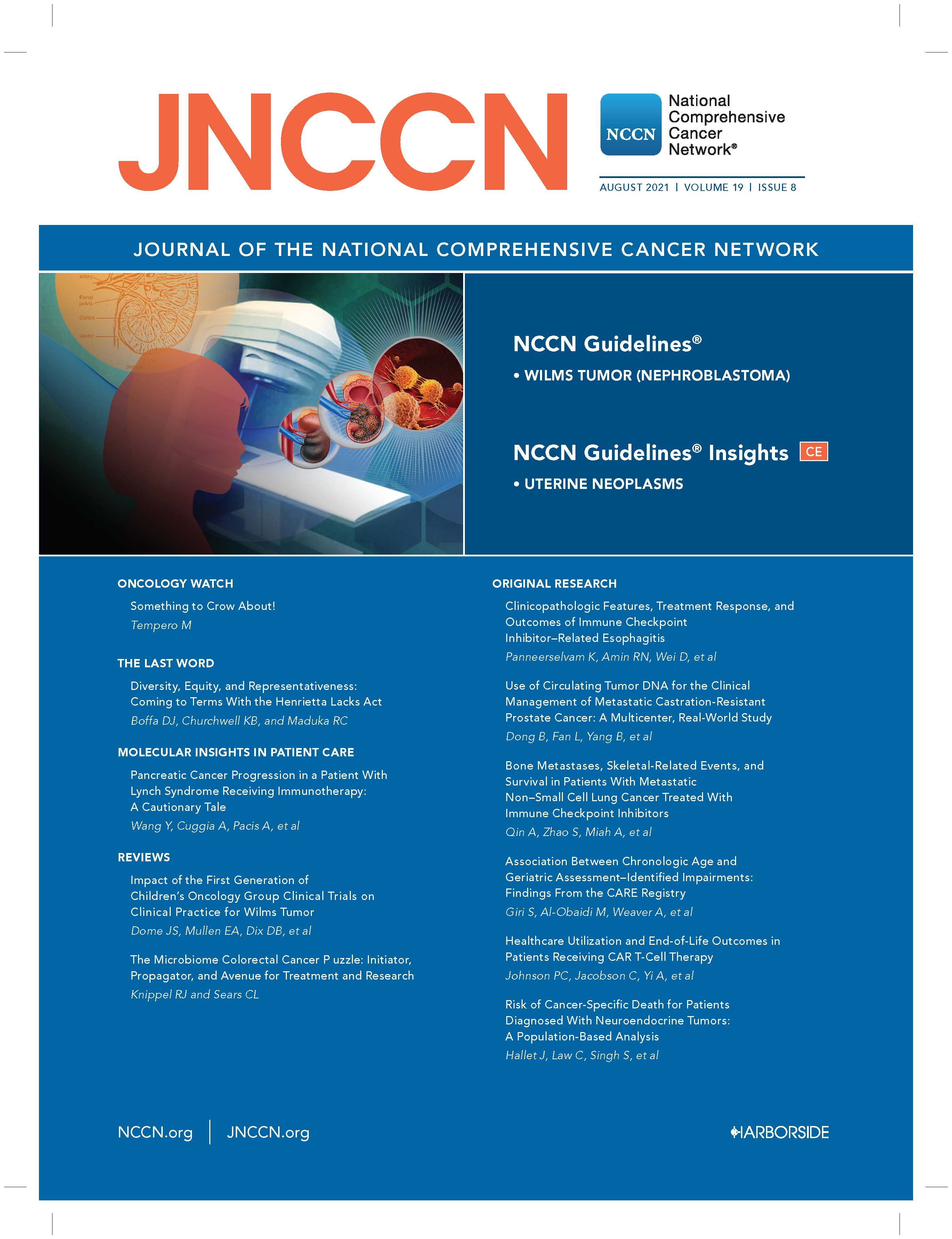 JNCCN Cover, August 2021