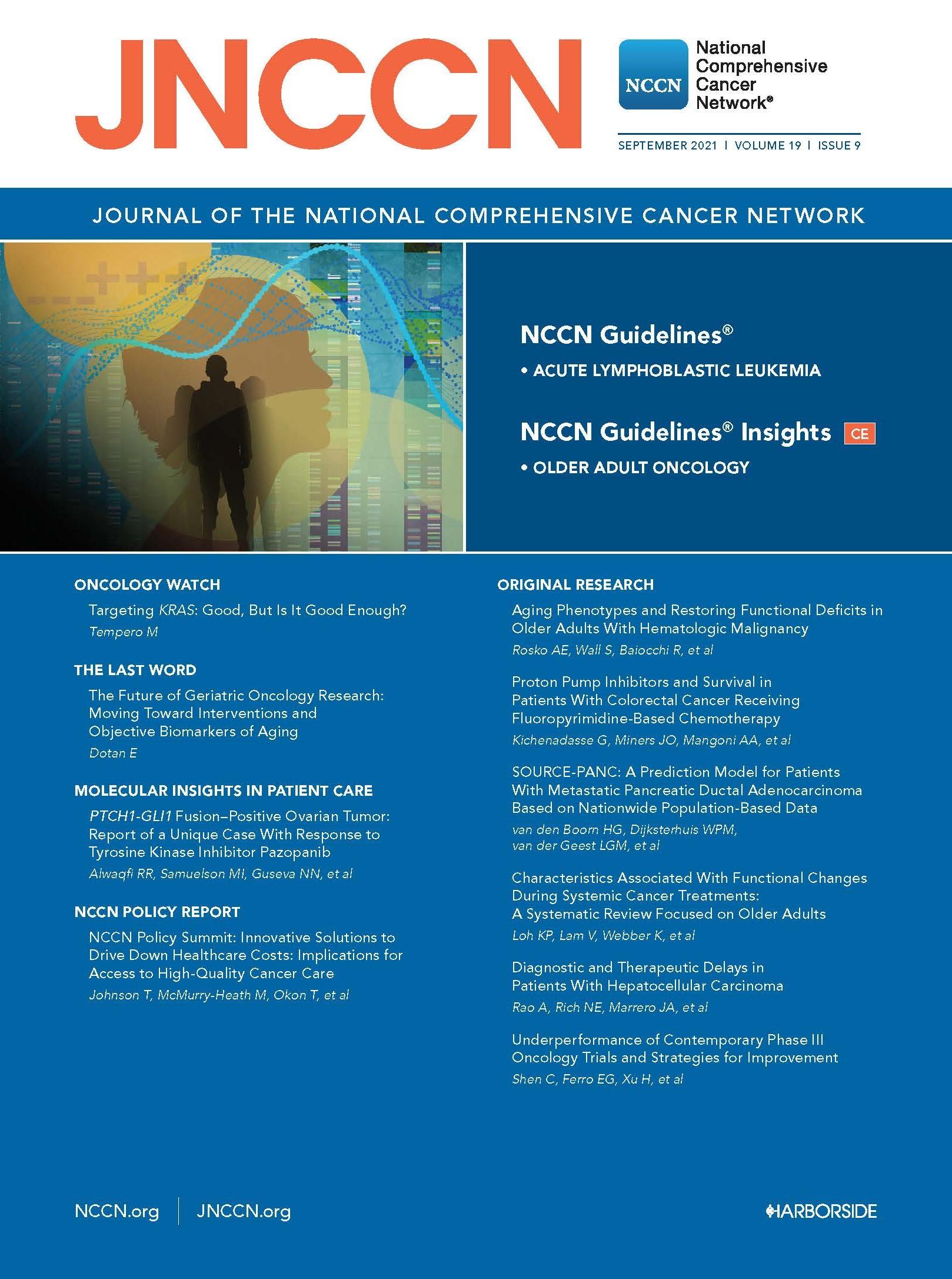 JNCCN Cover September 2021